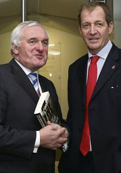Bertie Ahern and Alastair Campbell at the book launch