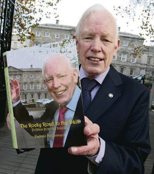 Former FG TD Padraic McCormack with his memoirs.
