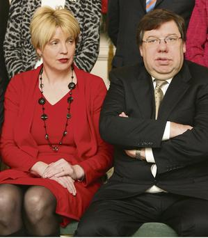 The then Taoiseach Brian Cowen asked Mary Coughlan to consult with ministers in the run-up to the bailout because of the pressure he was under. Frank McGrath