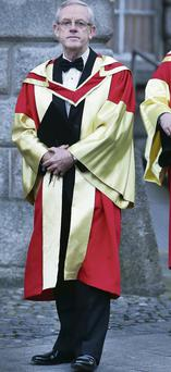Frank Dunlop, dressed to receive his PhD at Trinity College. Steve Humphreys