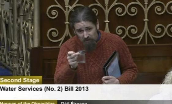 Independent TD Luke 'Ming' Flanagan during the heated Dail debate.