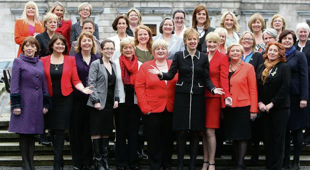 Women senators and TDs outside Leinster House