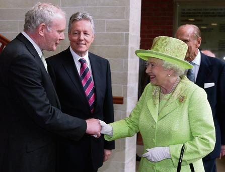 Martin McGuinness meeting Queen