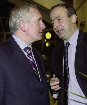 Bertie Ahern and Micheal Martin