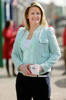 CAMPAIGN TRAIL: Lorraine Higgins out canvassing in Castleblaney. Photo: Gerry Mooney