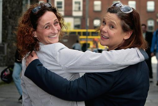 Lynn Boylan (left) and Mary Lou McDonald. Photo: Tom Burke