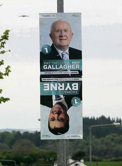 Posters for Pat 'The Cope' Gallagher and Thomas Byrne