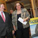 Enda Kenny and Gabrielle McFadden at the by-election selection convention in Mullingar