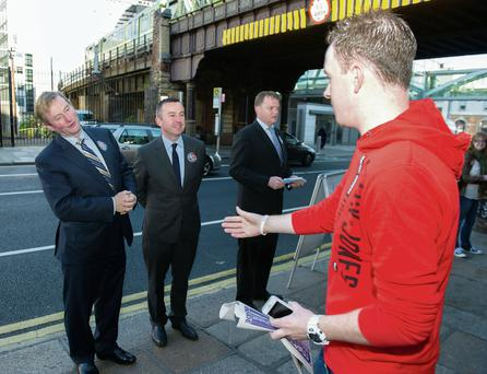 Enda Kenny lends his support on the campaign trail to Brian Hayes in Dublin