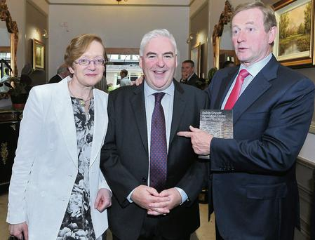 Attorney General Maire Whelan, chairman of the Bar David Nolan, and Taoiseach Enda Kenny at the Bar Council conference on Saturday.