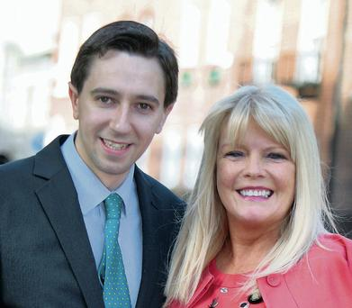 TDs Simon Harris along with Mary Mitchell O'Connor