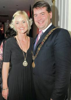 Dara Murphy and his wife Tanya when he was Lord Mayor of Cork.