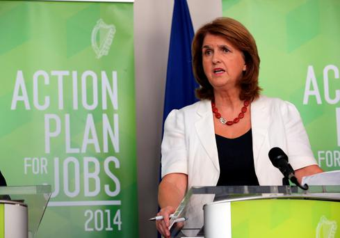 Joan Burton is already double digits more popular than her predecessor Eamon Gilmore