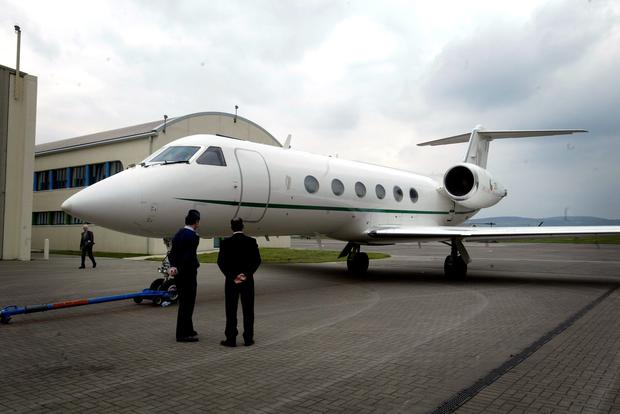 The Government jet at Baldonnel.