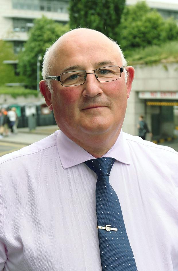 20/6/2013; Gerard Craughwell, President of the TUI pictured before a meeting with the Association of Secretary School Teachers Ireland, (ASTI), to discuss the Haddington Road agreement. Picture credit; Damien Eagers / Irish Independent