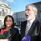 Mary Lou McDonald and Gerry Adams - Independent stride has shaken their strut.