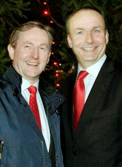 Enda Kenny and Micheal Martin
