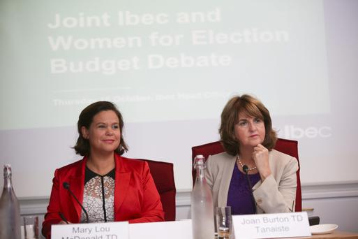 Mary Lou McDonald and Joan Burton