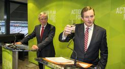 Glass half full or half empty? Enda Kenny found last year that water can be bad for your political health