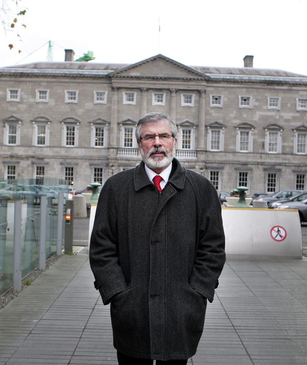 Gerry Adams, who along with all the SF TDs, does not socialise in the Dail.