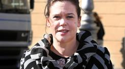 Mary Lou McDonald at Leinster House. Photo: Tom Burke