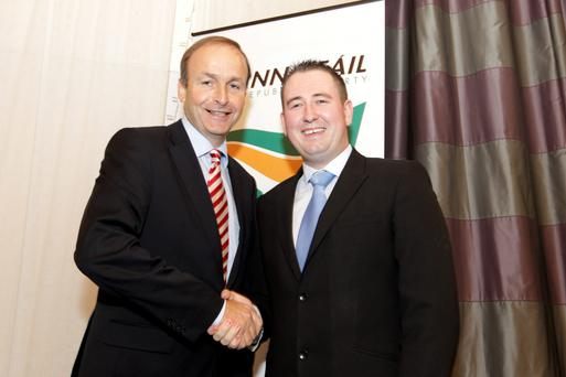 David McGuinness with Micheál Martin.