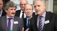 NEW DAWN: John Halligan, Shane Ross and Finian McGrath launch the Independent Alliance. Photo: Tony Gavin