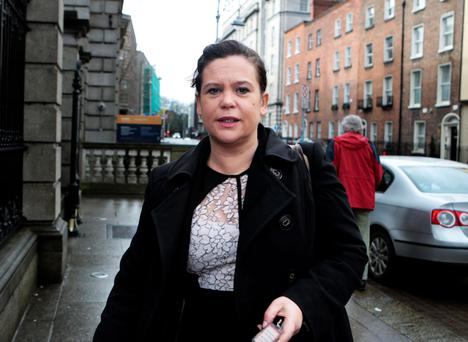 DEFENDING AGAIN: Sinn Fein's Mary Lou McDonald