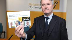 Mr Justice, Kevin Cross, chairperson, of the commission, at the launch of the public information campaign on the referendums. Photo: Damien Eagers