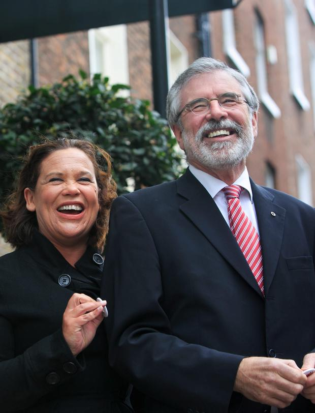 Sinn Fein Deputy Leader Mary Lou McDonald & Leader Gerry Adams