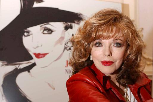 Actress Joan Collins assured her followers she hadn't been arrested at an anti-water-charge protest – that was Joan Collins TD