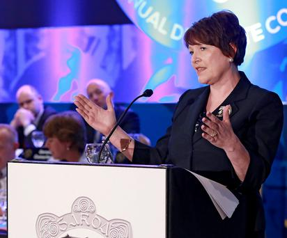 Garda Commissioner Noirin O'Sullivan addresses the GRA Annual Delegate Conference in Carlow