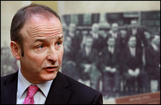 Fianna Fail Party Leader Micheal Martin