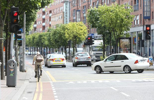 Fixed-charge notices will be issued for cyclists breaking a red light