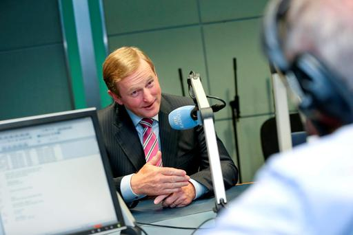 Taoiseach Enda Kenny on RTÉ Radio 1's Sean O'Rourke show yesterday in which he discussed Greece, the Banking Inquiry and the 2016 Budget