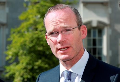 Minister for Defence Simon Coveney pictured at Government Buildings for the announcement that the Air Corps will continue to provide helicopter and crews to run the service