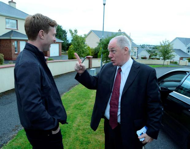 Michael Ring with our reporter Philip Ryan in Claremorris