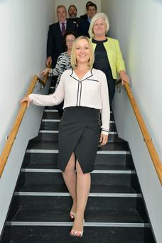 Lucinda Creighton and other Renua members. Photo: Barbara Lindberg