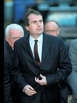 Sean Conlon TD pictured leaving the carpark at the rear of the Employment Appeals Tribunal. 24/10/14 Pic Frank Mc Grath