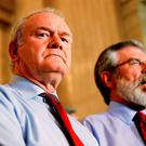 Martin McGuinness and Sinn Féin president Gerry Adams