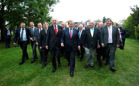 Taoiseach, Enda Kenny, leads his fellow TDs and senators at the Fine Gael Think-In at the Dunraven Arms in Adare, Co Limerick