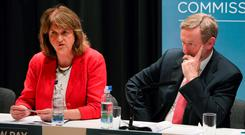 IN IT TOGETHER: Joan and Enda have made a voting pact but Fine Gael is sure to get a bigger slice of the electoral cake
