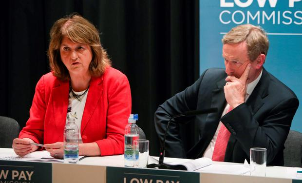 Joan Burton and Enda Kenny
