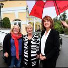 TDs Ciara Conway and Anne Ferris with Labour leader Joan Burton at the party think-in at the Glenview Hotel in Wicklow