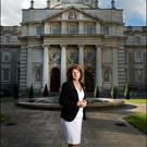 Tánaiste Joan Burton outside Government Buildings