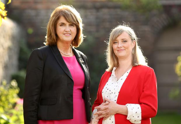 SUPPORT: Tanaiste and Labour Party leader Joan Burton and Mairia Cahill