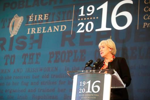 Heritage Minister Heather Humphreys helps launch the 31 local and community plans to mark the 100th anniversary of 2016. Led by local authorities, it features 1,800 special events and initiatives. Photo: Sam Boal/Rollingnews.ie