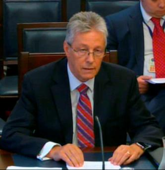 Peter Robinson before the Stormont committee