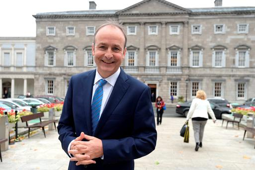 Deputy Michael Martin pictured at Leinster House