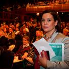 Sinn Fein's Deputy leader Mary Lou McDonald at the Sinn Féin Ard Fheis 2015 in Derry